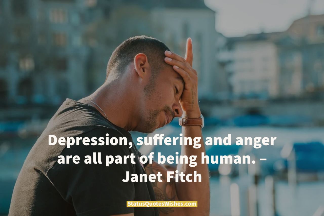 depression dark quote