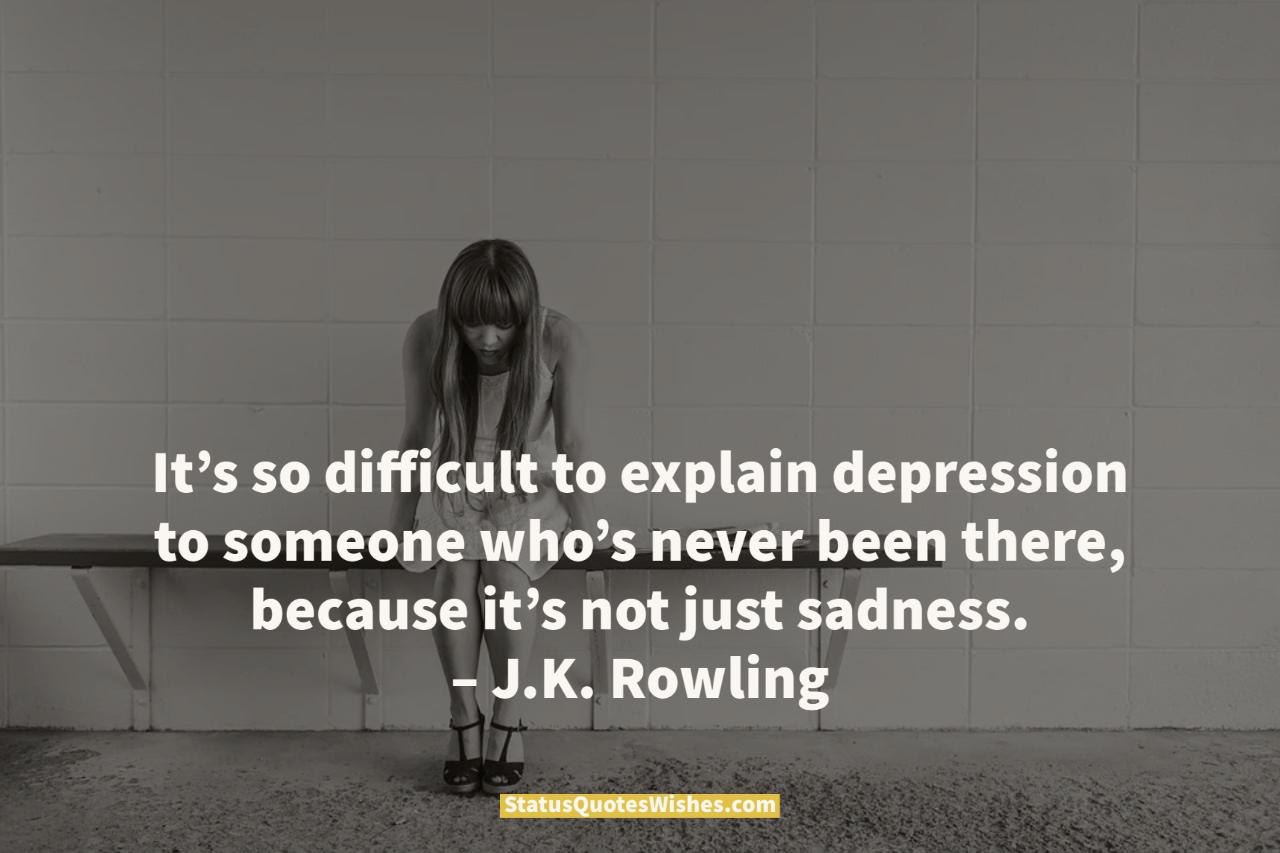 depression sad quotes