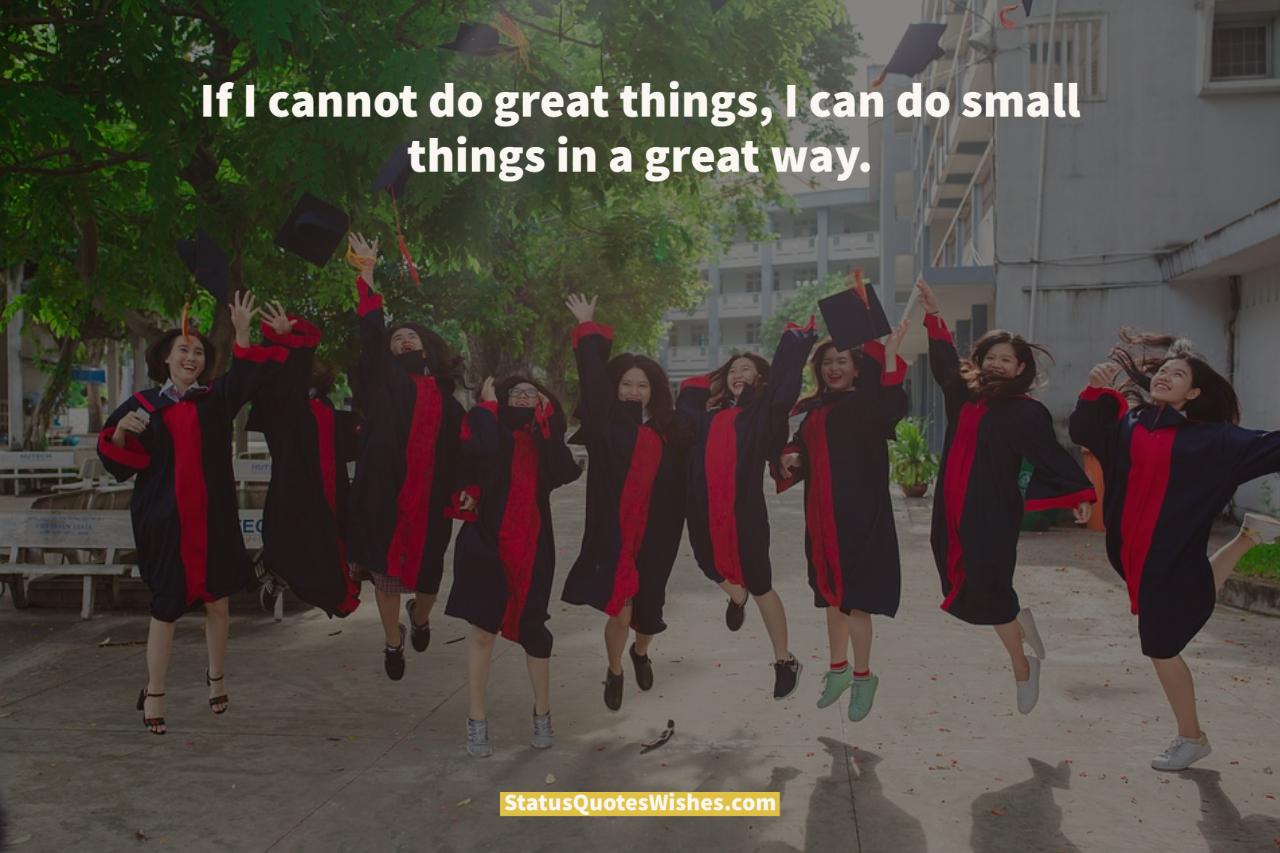 short graduation quotes