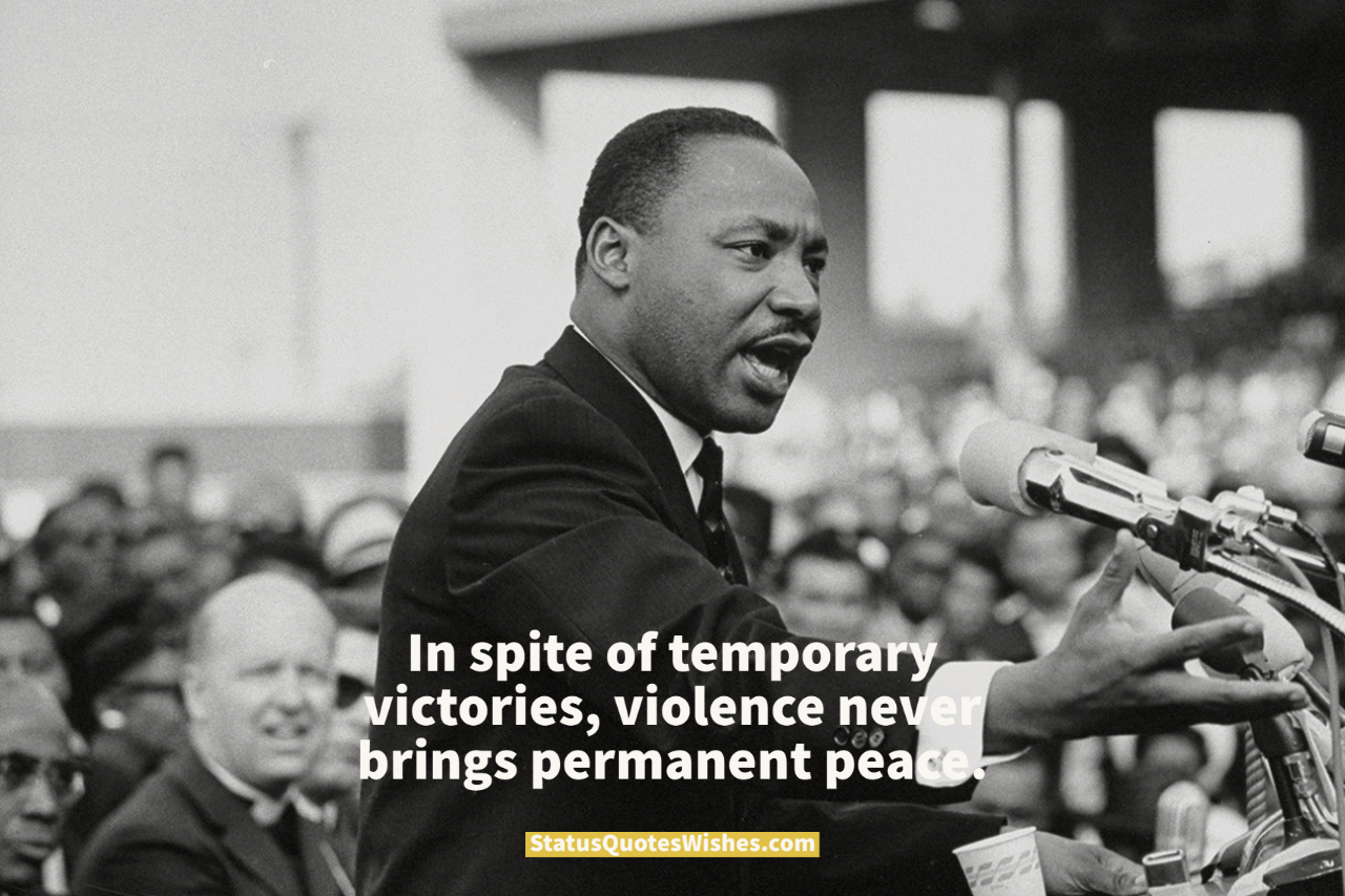 martin luther king jr quotes on violence